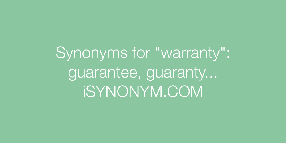 Synonyms warranty