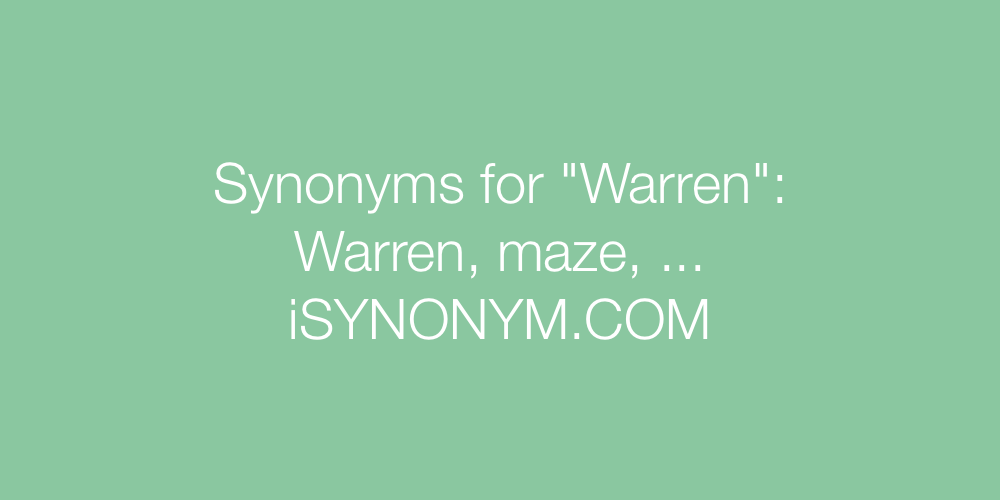 Synonyms Warren