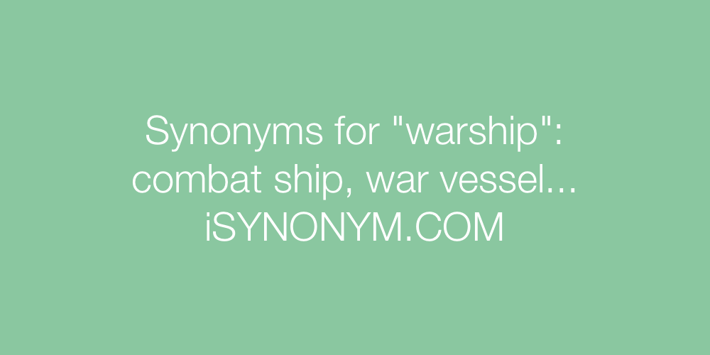 Synonyms warship