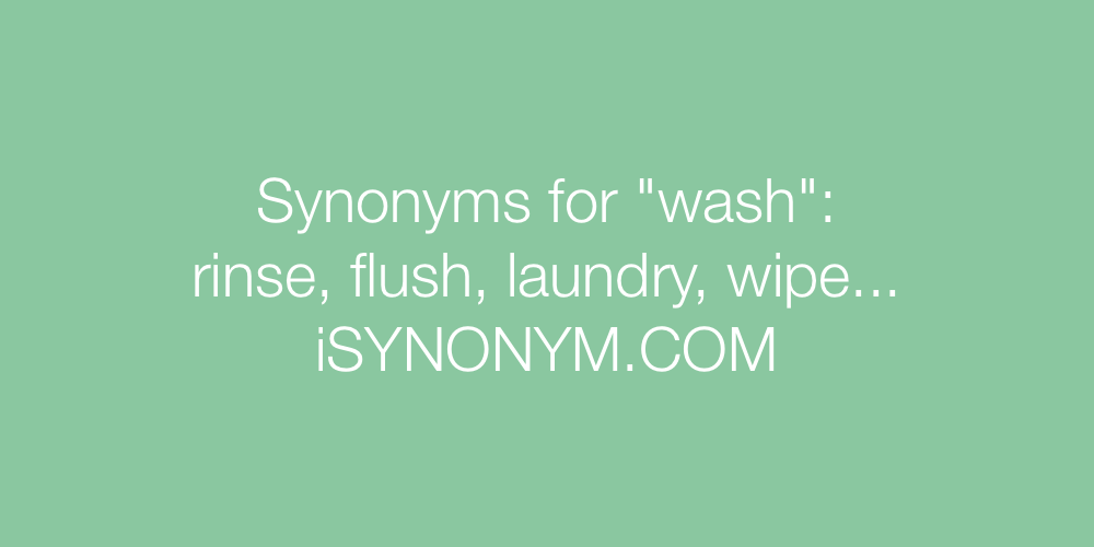 Synonyms wash