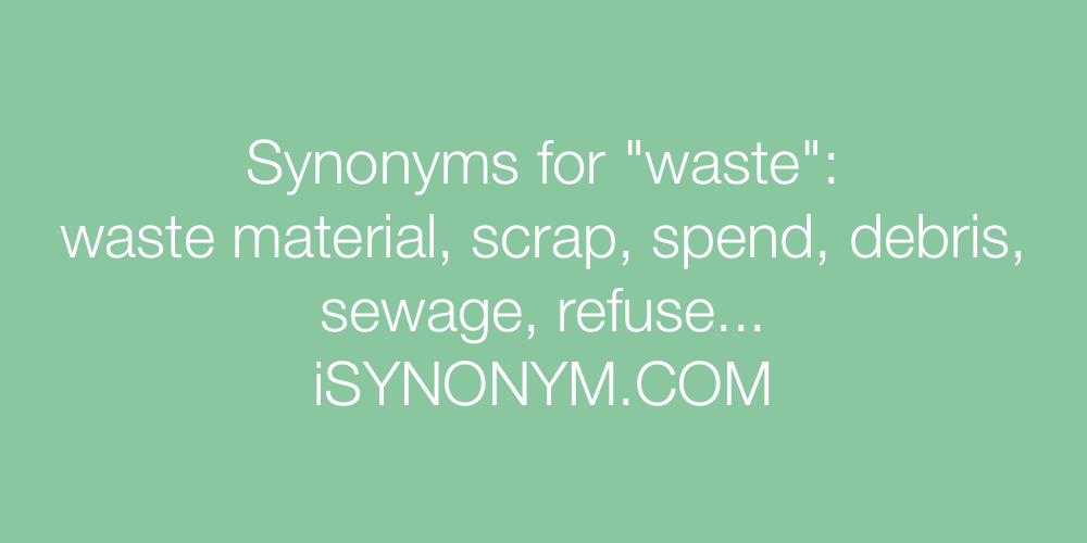 Synonyms waste