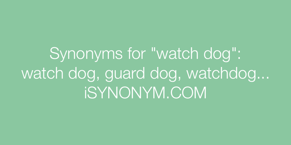 Synonyms watch dog