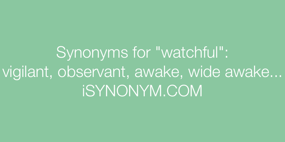 Synonyms watchful