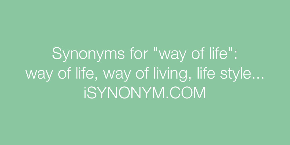 Synonyms way of life
