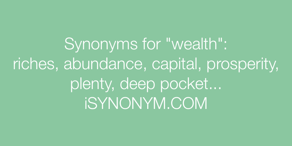 Synonyms wealth