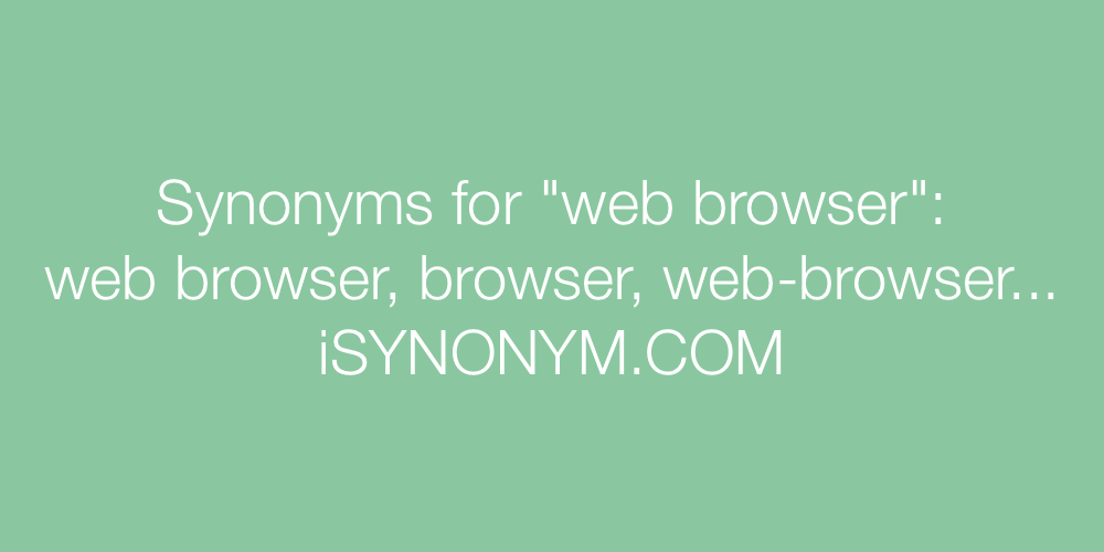 Synonyms web browser