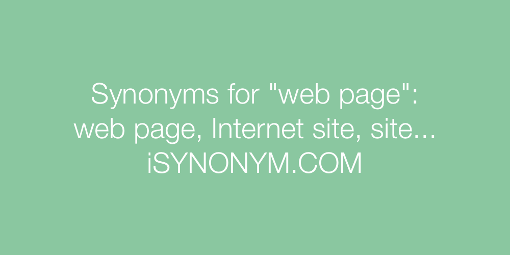 Synonyms web page
