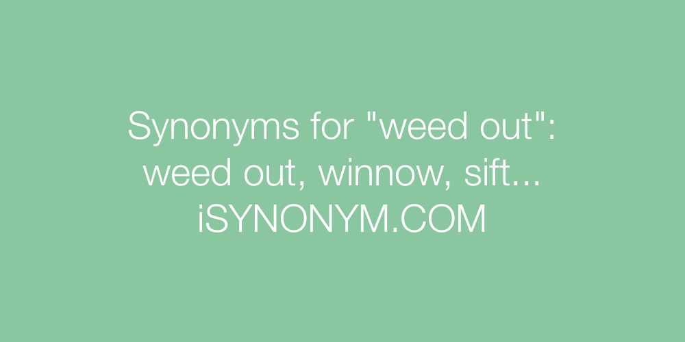 Synonyms weed out