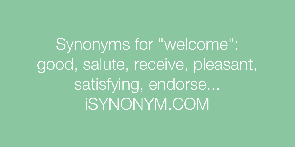 Synonyms welcome