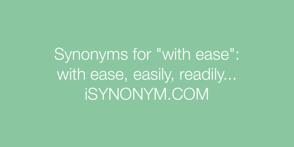 Synonyms with ease