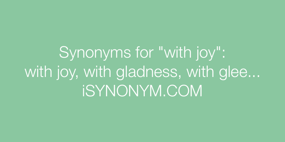 Synonyms with joy