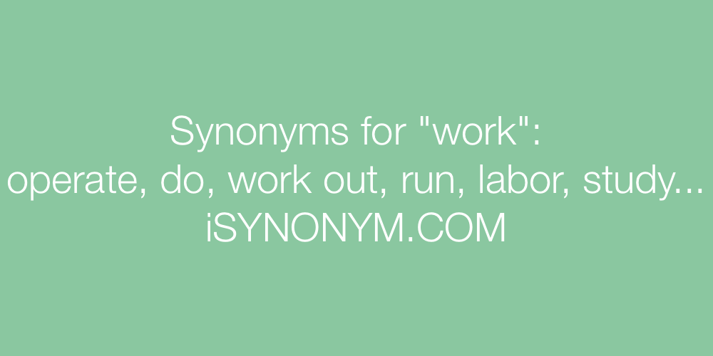 Synonyms work