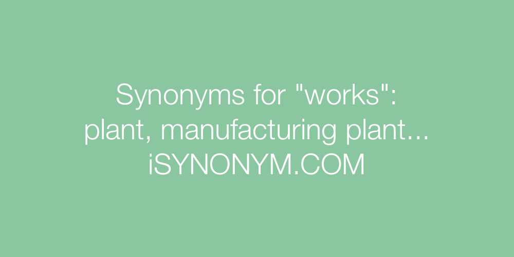 Synonyms works