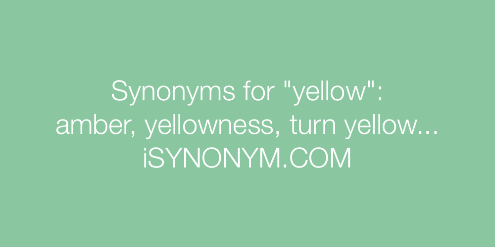 Synonyms yellow