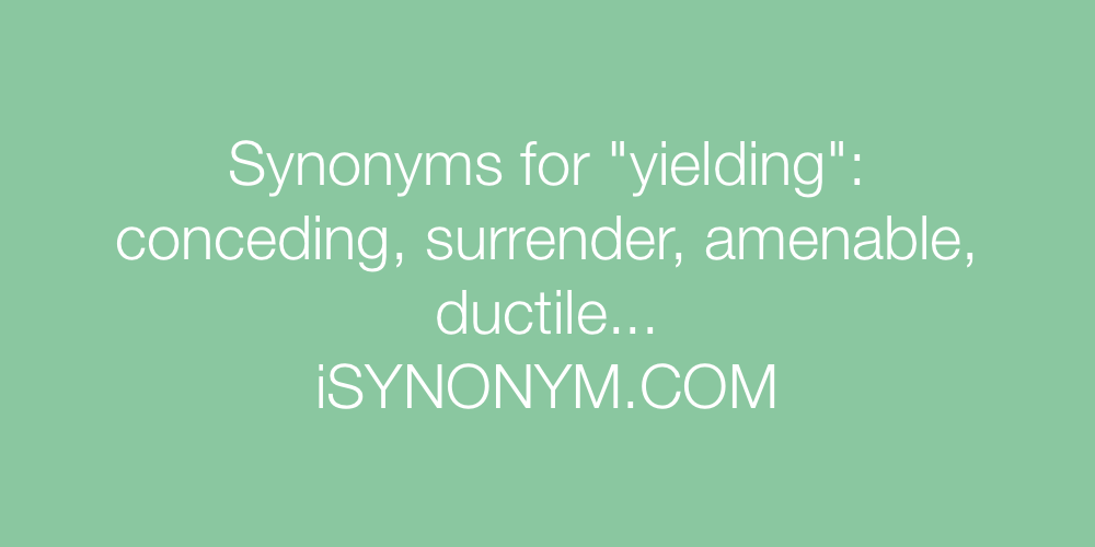 Synonyms yielding