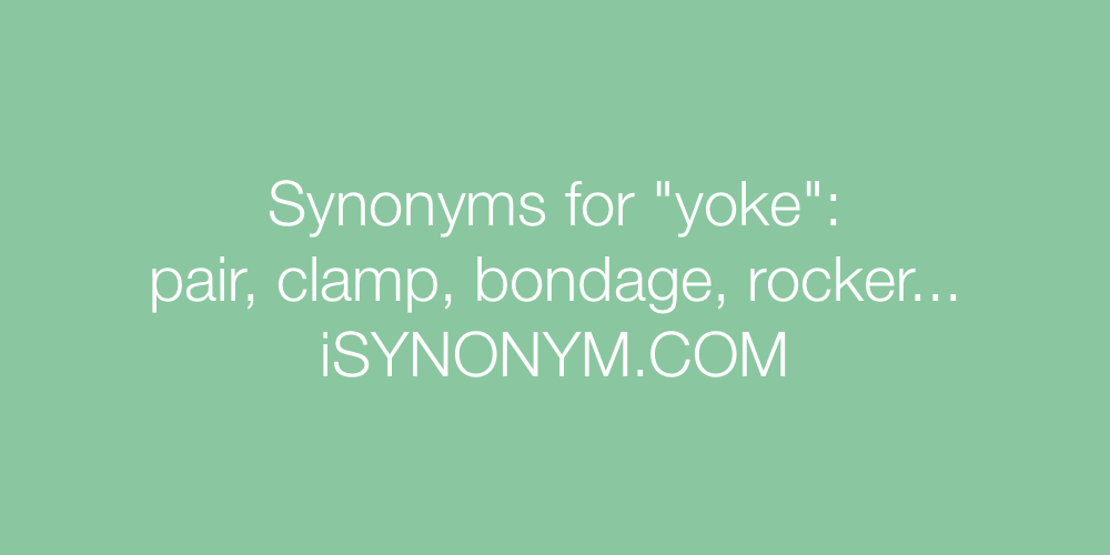 Synonyms yoke