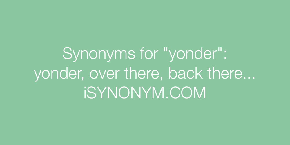 Synonyms yonder