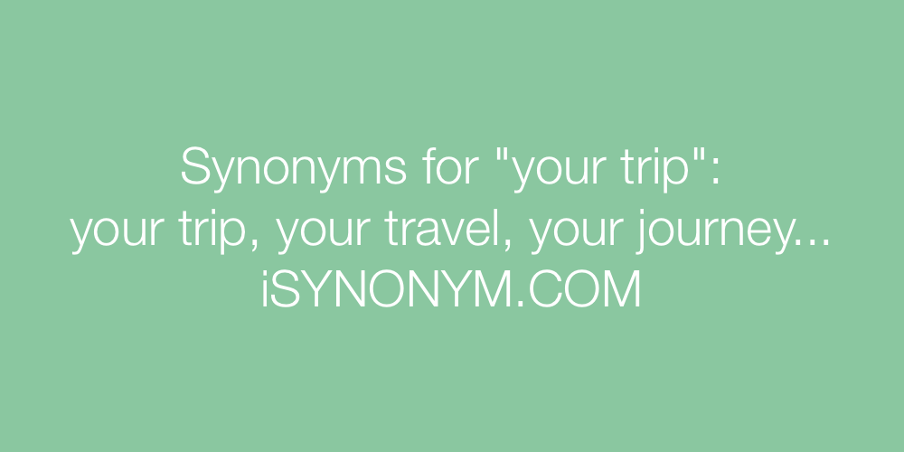 Synonyms your trip