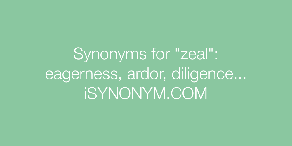 Synonyms zeal