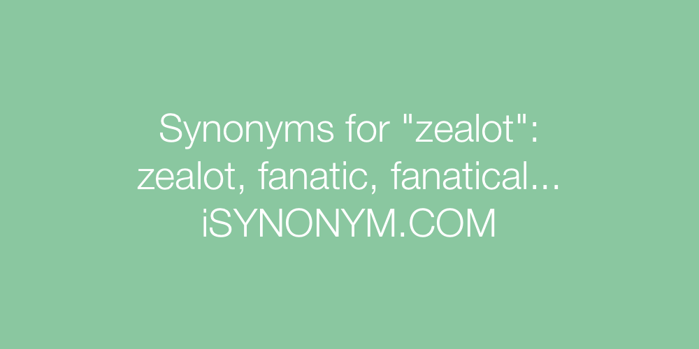 Synonyms zealot