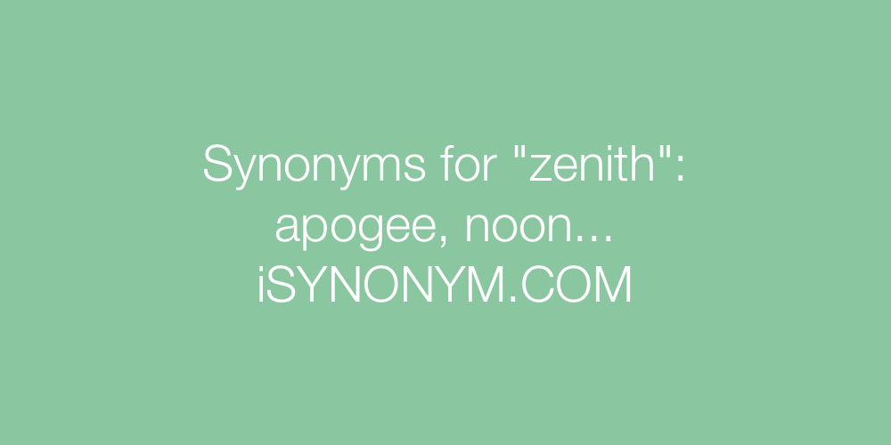 Synonyms zenith