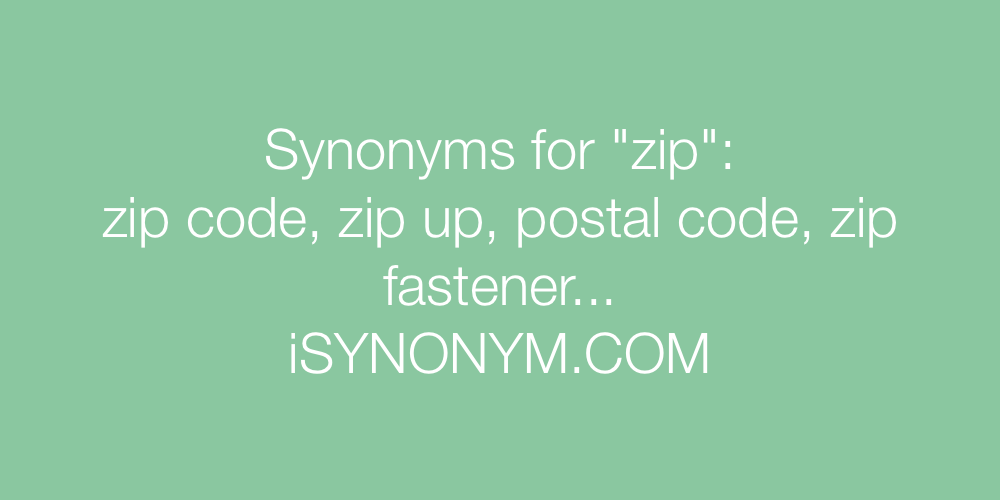 Synonyms zip