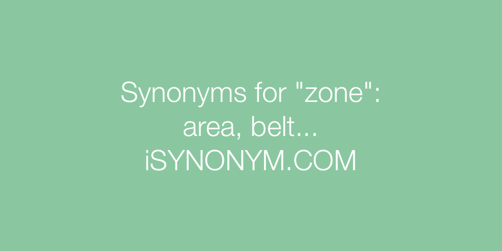 Synonyms zone