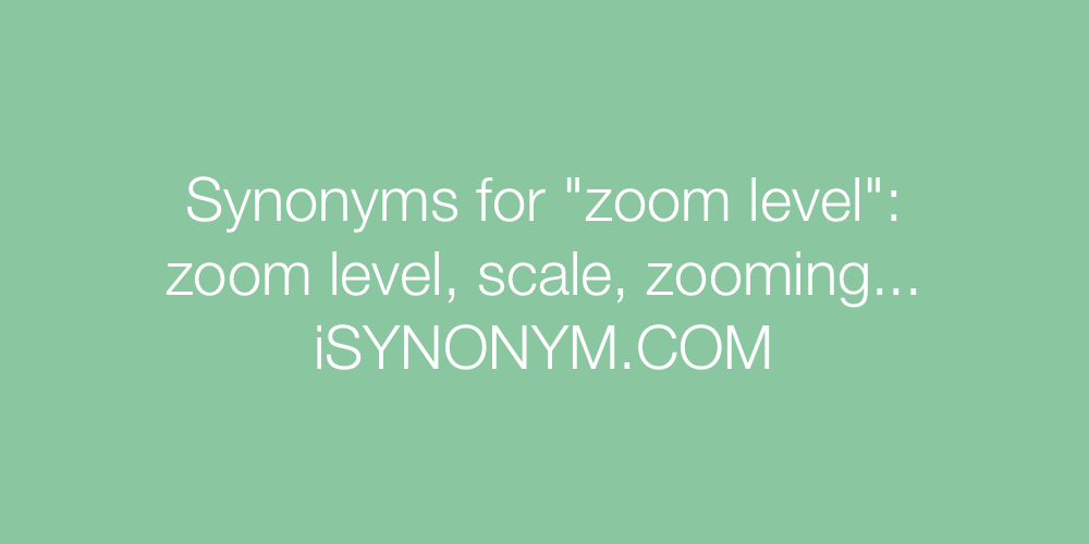 Synonyms zoom level
